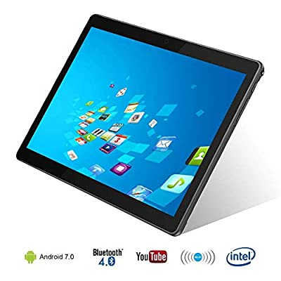 """10.1"""" Inch Android 7.0 Tablet PC, 4GB RAM 64GB Storage Phablet Tablet Octa Core Unlocked 3G Cell Phone Tablets, Dual Sim Card Slots, WiFi, GPS, Bluetooth 4.0,1920x1080 HD IPS Screen Display 108-Black"""