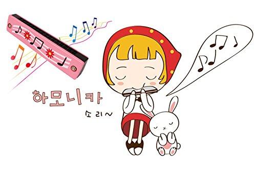 Snaro Bois Jouet Instrument Musical Harmonica Motif Mignon Instruments de Musique Jouets pour Enfants B/éb/é 1pcs 13*3*2.5cm Couleur Style Al/éatoire