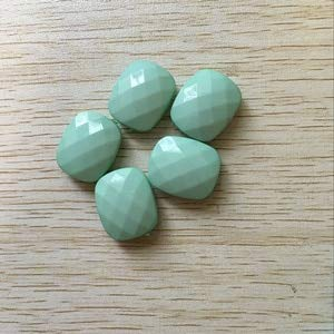 - Calvas (Chose Color) Acrylic Solid Faceted Rectangle Beads for Jewelry Necklace Making#252/251 - (Color: Mint Green, Item Diameter: 23X20mm 180pcs)