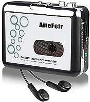 AiteFeir カセットプレーヤー カセットテープ USB変換プレーヤー カセットテープデジタル化 MP3コンバーター カセットテープの音源をMP3に簡単変換録音保存 カセットテープの音源復活