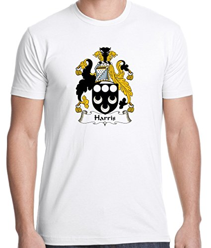 Irish Family Coat Of Arms (Harris Coat of Arms / Family Crest 100% Cotton Men's T-shirt Large)