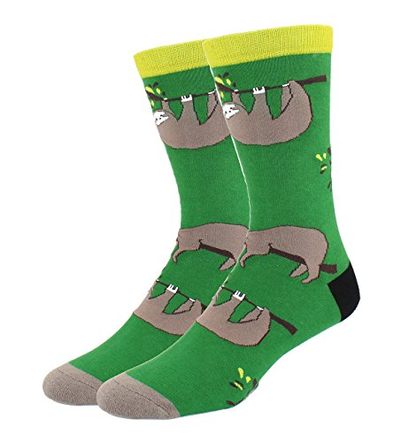 Men's Fancy Funny Dress Cotton Crazy Cool Crew Sloth Socks - Cheap Fancy Dress Ideas For Men
