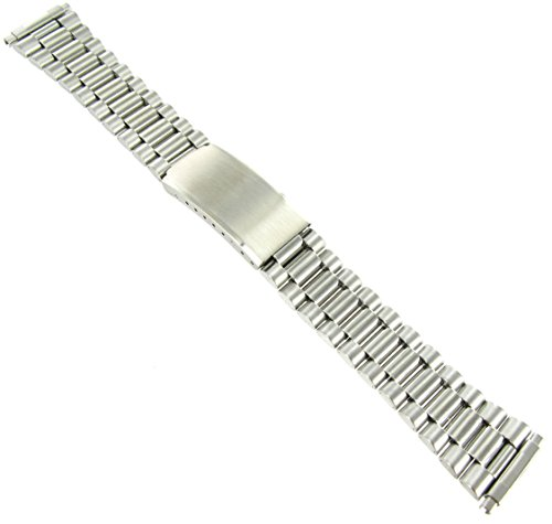 16-22mm Men's Stainless Steel Classic Watchband Replacement by NE Watchbands (Image #1)