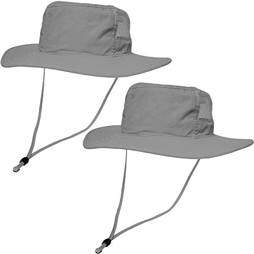 796219dc83a Kids Outdoor Boonie Sun Hat 2 Pack – Sunlight Blocking Hat with Chin Cord  and 270