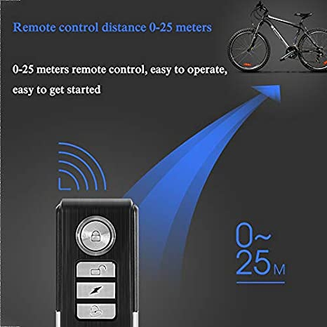 Anti-Robo Ladr/ón Alarma para Bicicleta//Bicicleta//Motocicleta//Coche//Veh/ículos//Puerta//Ventana 110db Super Loud Control Remoto Incluido Electz Inal/ámbrico Alarma de vibraci/ón