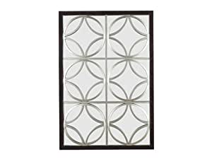 Kenroy Home Gable Wall Mirror Walnut Finish with Silver Trellis, 26 by 39-Inch