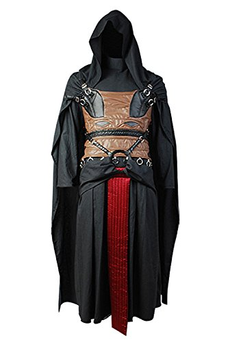 GOTEDDY Men Halloween Cosplay Robe Linen Leather Outfit Carnival Costume -