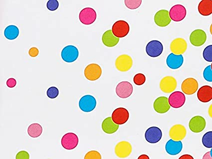 Amazon Com Pack Of 1 Rainbow Confetti 24 X 417 Roll Birthday
