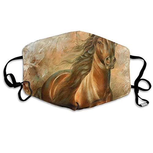YUANSHAN Dust Mask Horse Hand Paiting Outdoor Mouth Mask Anti Dust Mouth Mask for Man Woman -