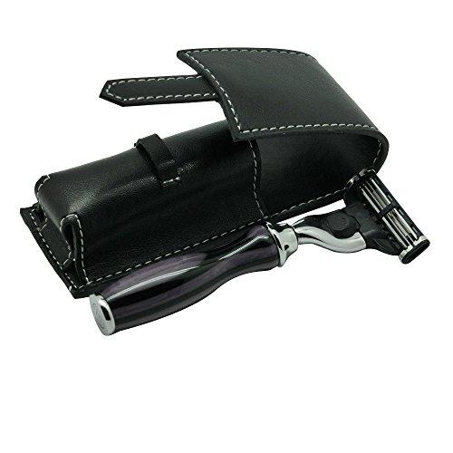 Mini Handle Manual Shaving Razor Mach 3 Razor with Travel Razor Case by Unknown