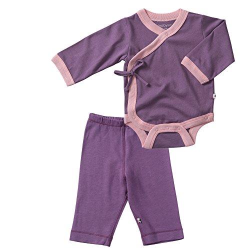 UPC 736846730701, Babysoy Soy Soft Kimono Bodysuit and Slip On Pants Set in Eggplant (0-3M)