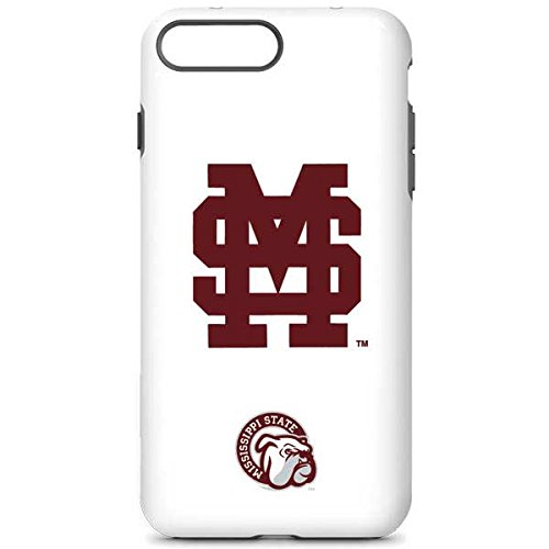 Skinit Mississippi State iPhone 7 Plus Pro Case - Mississippi State Interlocking Logo Design - High Gloss, Scratch Resistant Phone Cover