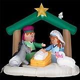 Gemmy 6 Feet Tall Airblown Christmas Nativity Scene Inflatable
