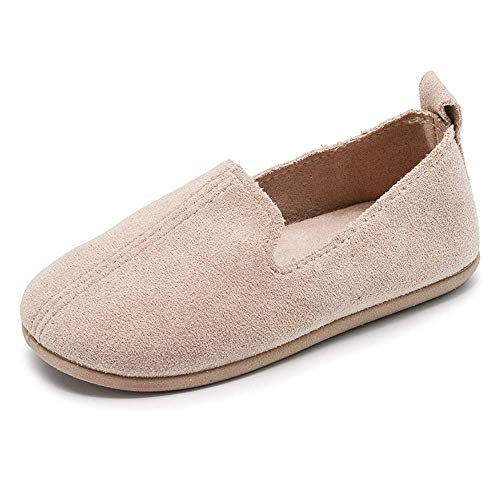 SOFMUO Toddler Boys Girls Suede Loafers Slip-On Boat Dress Flats Schooling Daily Casual Walking Shoes(Toddler/Little Kid)