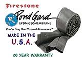 Firestone Pondgard Pond Liner 10' x 10' Fish Safe Liner 20 Year Warranty