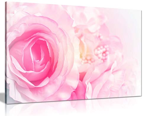 Rose Blossom Pink Canvas Wall Art Picture Print (30x20)