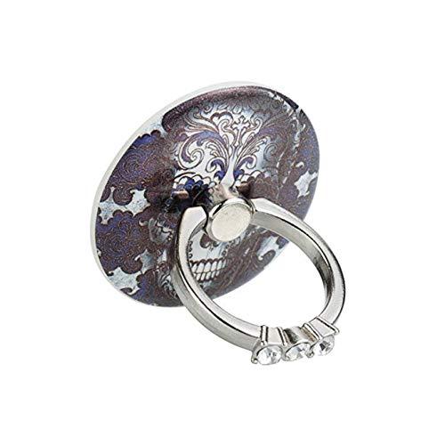 Blue Skull Phone Ring Holder, 360°Rotation Phone Grip Kickstand for All Phones