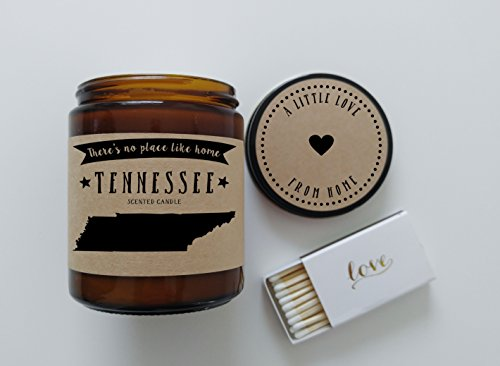 Tennessee Scented Candle Missing Home Homesick Gift Moving Gift New Home Gift No Place Like Home State Candle Miss You Gift Valentines Day Gift