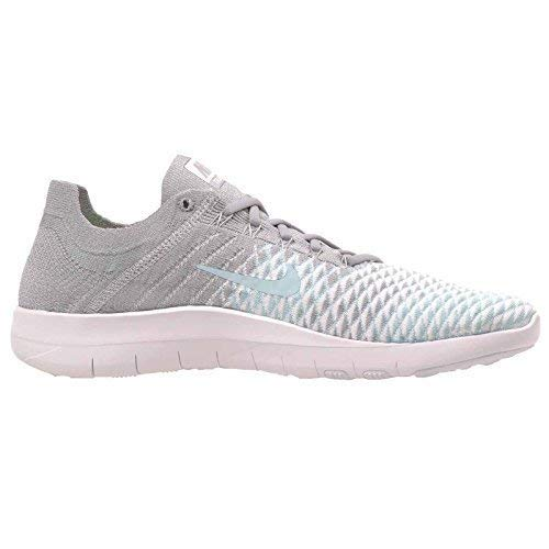 Nike Free Tr Flyknit 2 Size 9.5 Womens Cross Training Wolf Grey/Glacier Ice-White Shoes