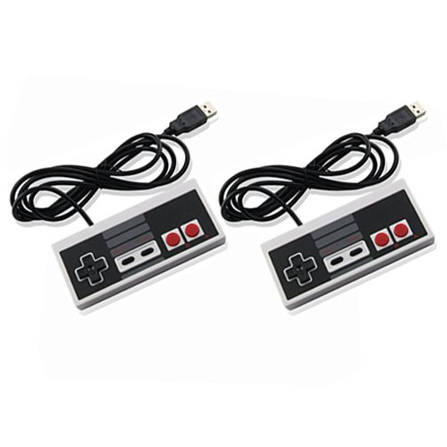 USB NES Controller USB Famicom Controller Joypad Gamepad,Computer Games Solution Kit for Windows PC  / Raspberry Pi – 2 Packs