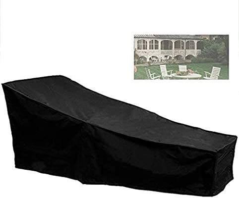 Iraza Cubierta Protectora de la Silla para Tumbona de Salón Jardín al Aire Libre Negro 208 x 79 x 76cm: Amazon.es: Jardín
