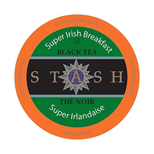 Stash Tea Super Irish Breakfast Single-CupTea for Keurig K-Cup Brewers, 24 - Breakfast Irish Super