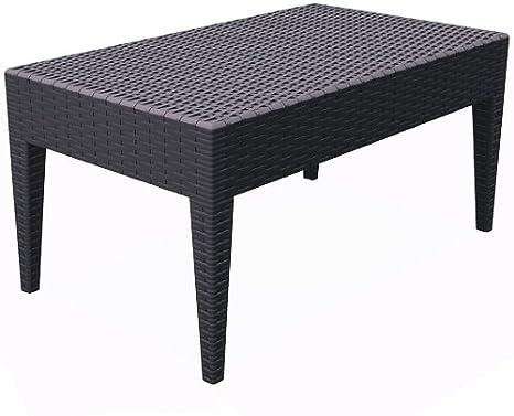 Resol Ipanema - Mesa auxiliar, plástico, Chocolate, 92 x 53 x 45 cm