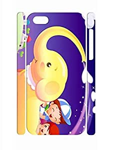 LJF phone case Creative Colorful Elephant Print Tough iphone 5/5s Phone Snap On Case