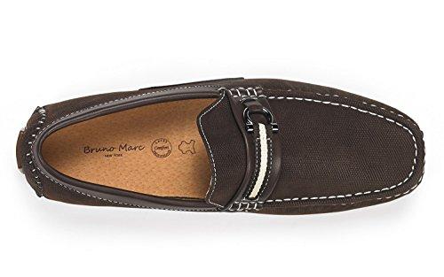Bruno Marc Heren Santoni-05 Penny Loafers Mocassins Schoenen Bruin