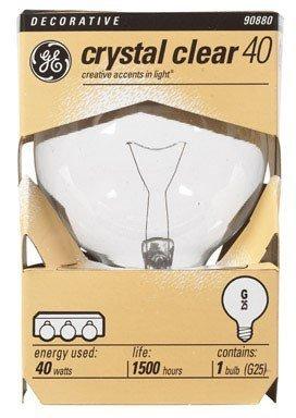 Ge Decorative G25 Globe Bulb 40 W 410 Lumens Med Base 4-1/2