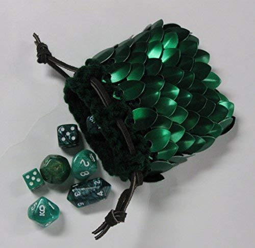 amazon com scalemail dice bag in knitted dragonhide armor elven
