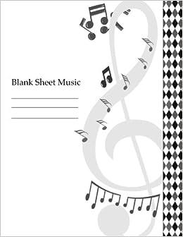 Amazon com: Blank Sheet Music: Musicians Notebook Large Big