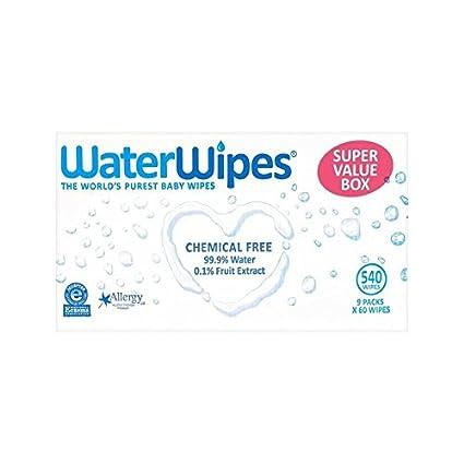 Waterwipes Valor Paquete De Toallitas Súper Sensible De Los Bebés De 9 X 60 Por Paquete