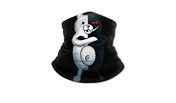 Dxddsdks Danganronpa-Monokuma-Despair Face Cover//Headband Scarf,Multi-Functional Full-Coverage for Boy//Girl