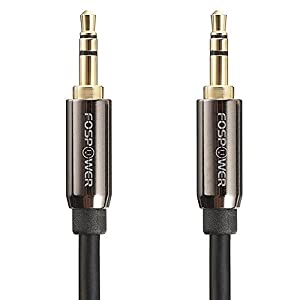Audio Cable (3 FT), FosPower Stereo Audio 3.5mm Auxiliary Short Cord Male to Male Aux Cable for Car, Apple iPhone, iPod, iPad, Samsung Galaxy, HTC, LG, Google Pixel, Tablet & More
