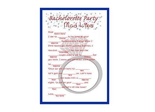 Bachelorette Mad Libs Game