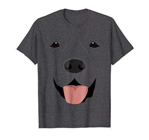 Mens Labrador Face Shirt, Funny Cute Lab Dog Halloween Costume Large Dark Heather -