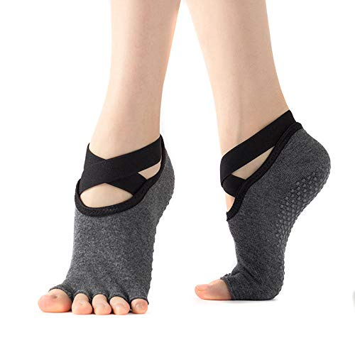 Alaojie - Calcetines de Yoga sin Slip con Dedos para Ballet ...
