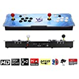 3D Pandora Key Retro Arcade Video Game Console | No Games Pre-loaded | Full HD (1920x1080) Video | 2 Player Game Controls | Support 4 Players | Add More Games | HDMI/VGA/USB/AUX Audio Output