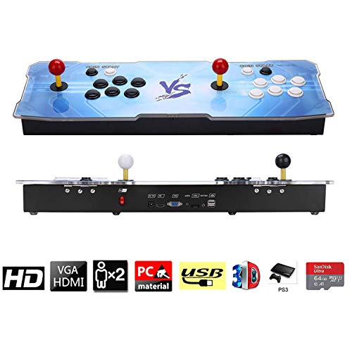 3D Pandora Key Retro Arcade Video Game Console | No Games Pre-loaded | Full HD (1920x1080) Video | 2 Player Game Controls | Support 4 Players | Add More Games | HDMI/VGA/USB/AUX Audio Output by HAAMIIQII (Image #6)