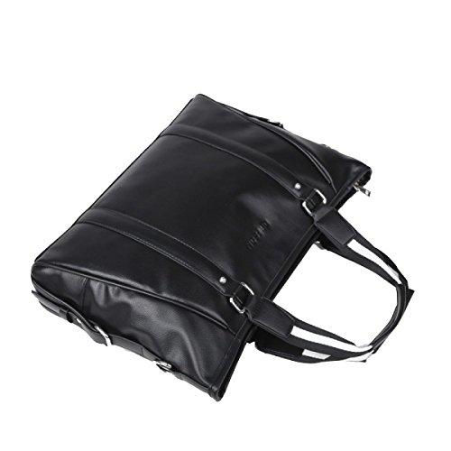 Yy.f De 14 Pulgadas Bolsa De Ordenador Portátil Bolsas De Viaje De La Moda Bolsos De Viaje Hombro Diagonal Del Paquete Paquete Sólido De Los Hombres Black