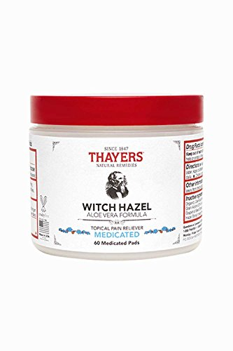 Thayers Medicated Superhazel Pads with Aloe Vera Formula - M