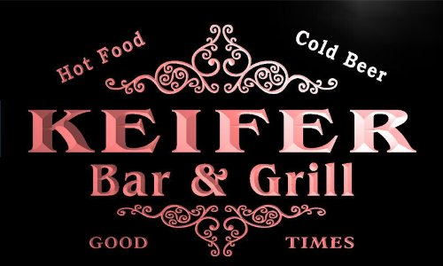 u22910-r KEIFER Family Name Bar & Grill Home Beer Food Neon Sign