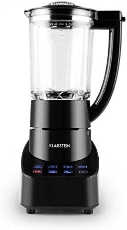 Klarstein 10028122 Batidora de vaso 1.5L 700W Negro - Licuadora (1,5 L, Batidora de vaso, Negro, Vidrio, Acero inoxidable, 700 W): Amazon.es: Hogar