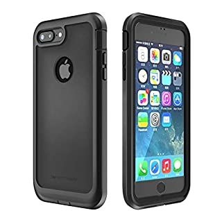 IMPACTSTRONG iPhone 7 Plus/iPhone 8 Plus Case, Ultra Protective Case with Built-in Clear Screen Protector Full Body Cover for iPhone 7 Plus/iPhone 8 Plus (Black)