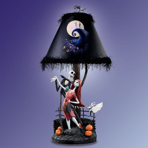 Price comparison product image Tim Burton's The Nightmare Before Christmas Moonlight Table Lamp With Jack,  Sally And Zero by The Bradford Exchange