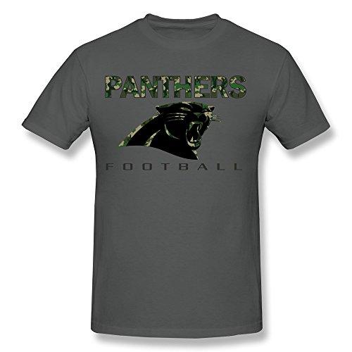 AnneLano Men's Panthers Football Camo Tshirt XX-Large DeepHeather