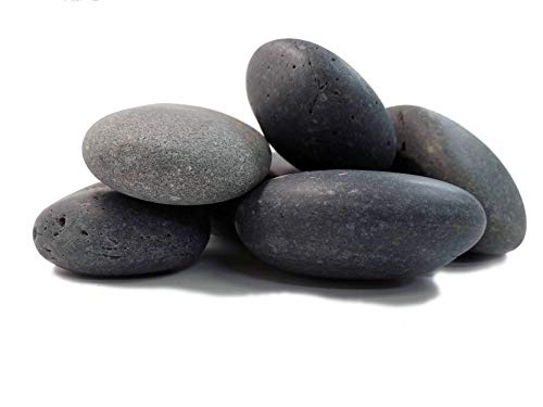 Painting Rocks -6 Smooth Stones Ranging in size from 3 to 4 1/2 Inches - Perfect for Kindness Rocks, Garden Markers, Pattern Weights and Arts and Crafts. Approx 6 lbs. (3 to 4 1/2 inches)