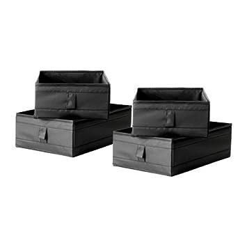 IKEA Aufbewahrung SKUBB 4 Fächer/Boxen in SCHWARZ: Amazon.de: Baumarkt