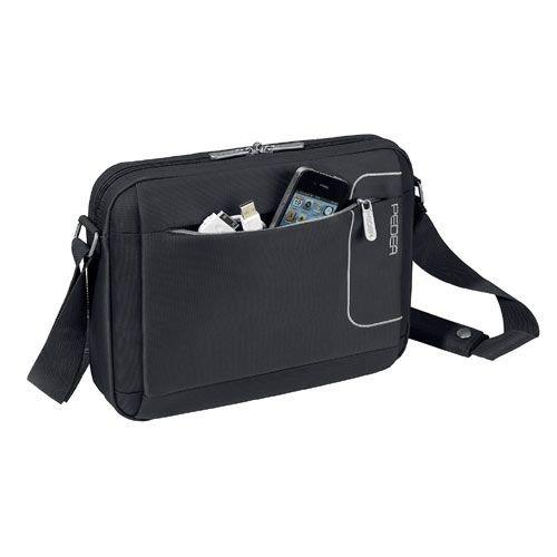 PEDEA Tablet Tasche 10,1 Zoll (25,9 cm) mit Zubehörfach und Schultergurt, schwarz